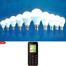 buy set of 10 led light bulbs by home pro and get mobile phone
