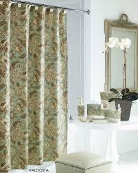 Cynthia Rowley Jacobean Floral Curtains by J Queen New York Valdosta Aqua Jacobean Floral Fabric Shower