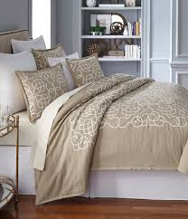 Noble Excellence Bedding by Southern Living Veranda Scroll Embroidered Cotton U0026 Linen Duvet