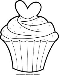 birthday cupcake clip art black and white