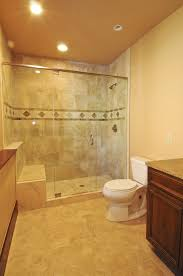 Bathroom Stall Dividers Dimensions by Beige Marble Wall Panel For Shower Stall With Subway Tiled Accent