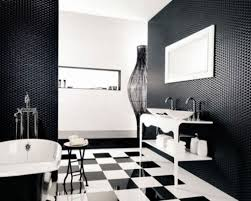black white bathroom floor tile simple glass shower door ideas