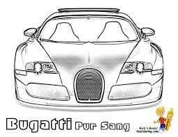 Coloring Page Bugatti Veyron Pur Sang Top View At YesColoring