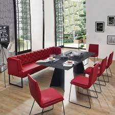 k w silaxx essgruppe creso 4275 bestehend aus fünf freischwingern und einer luxuriösen solobank und einem esstisch mit einer hochwertigen glasplatte