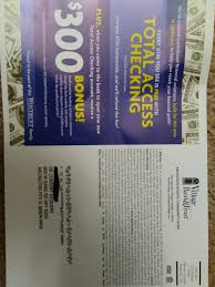 Village Bank & Trust Checking Promotion: $300 Bonus (IL ... Roundup Of Bank Bonuses 750 At Huntington 200 From Chase Total Checking Coupon Code 100 And Account Review Expired Targeting Some Ink Cardholders With 300 Brighton Park Community Bonus 300 Promotion Palisades Credit Union Referral 50 New Is It A Trap Offering Just To Open Checking Promo Codes 350 500 625 Business Get With 600 And Savings Accounts Handcurated List The Best Sign Up In 2019 Promotions Virginia