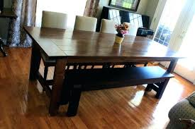 Black Bench For Dining Table Kitchen With Rectangle Glass Top