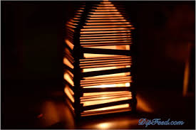 Popsicle Stick Lamp Dip Feed 13