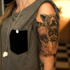 Half Sleeve Angry Bear Tattoo