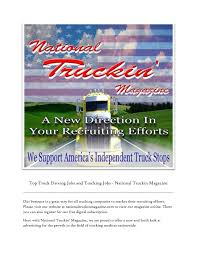 100 National Truck Driving Jobs Online