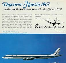 United Airlines Super DC 8 Service To Hawaii 1967
