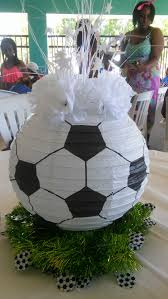 Soccer Themed Bedroom Photography by Soccer Ball Paper Lantern Centerpiece Sports Party Ideas