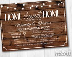 Housewarming Invitation Home Sweet Rustic New House Invite Couples Party Key INSTANT DOWNLOAD Love Wood