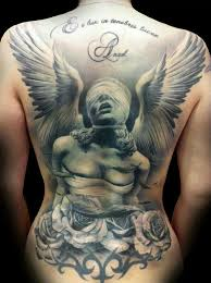 Angel Back Piece Tattoo On Awesome Cool Tattoos