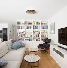 wohnzimmer mit bücherwand bücherwand wohnzimmer ideen