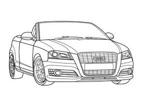 Audi A3 Car Coloring Pages Printable