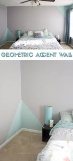 Ooh Love The Geometric Accent Wall No Headboard Perfect For Room To Put Paintings And A Display Of Fun Items Not Fan Multi
