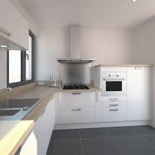 cuisine blanche et plan de travail bois cuisine blanche design meuble iris blanc collection avec cuisine