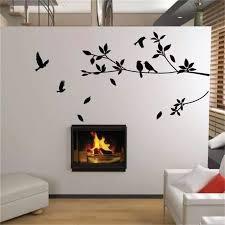 ebay heiße flying vogel baum niederlassung vinyl cut wandaufkleber schlafzimmer dekoration 8171 abnehmbare diy startseite decals tier