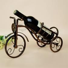 Retro Tricycle Shape Red Wine Rack Kitchen Wine Holder Metal Wine