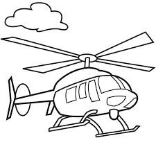 Helicopter Coloring Pages For Kids 124