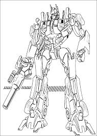 Transformer Coloring Pages To Print Transformers Free Printable