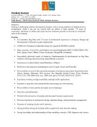 Pankaj Resume For HadoopJavaJ2EE