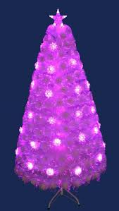 The 5ft Red Blue Luminescence Fibre Optic Tree