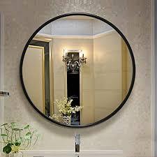 badspiegel runder birken rahmen badezimmer spiegel