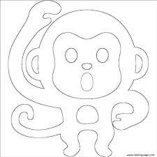 Emoji Monkey Emoticon Coloring Pages