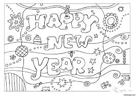 New Year Coloring Pages For Toddlers With Years