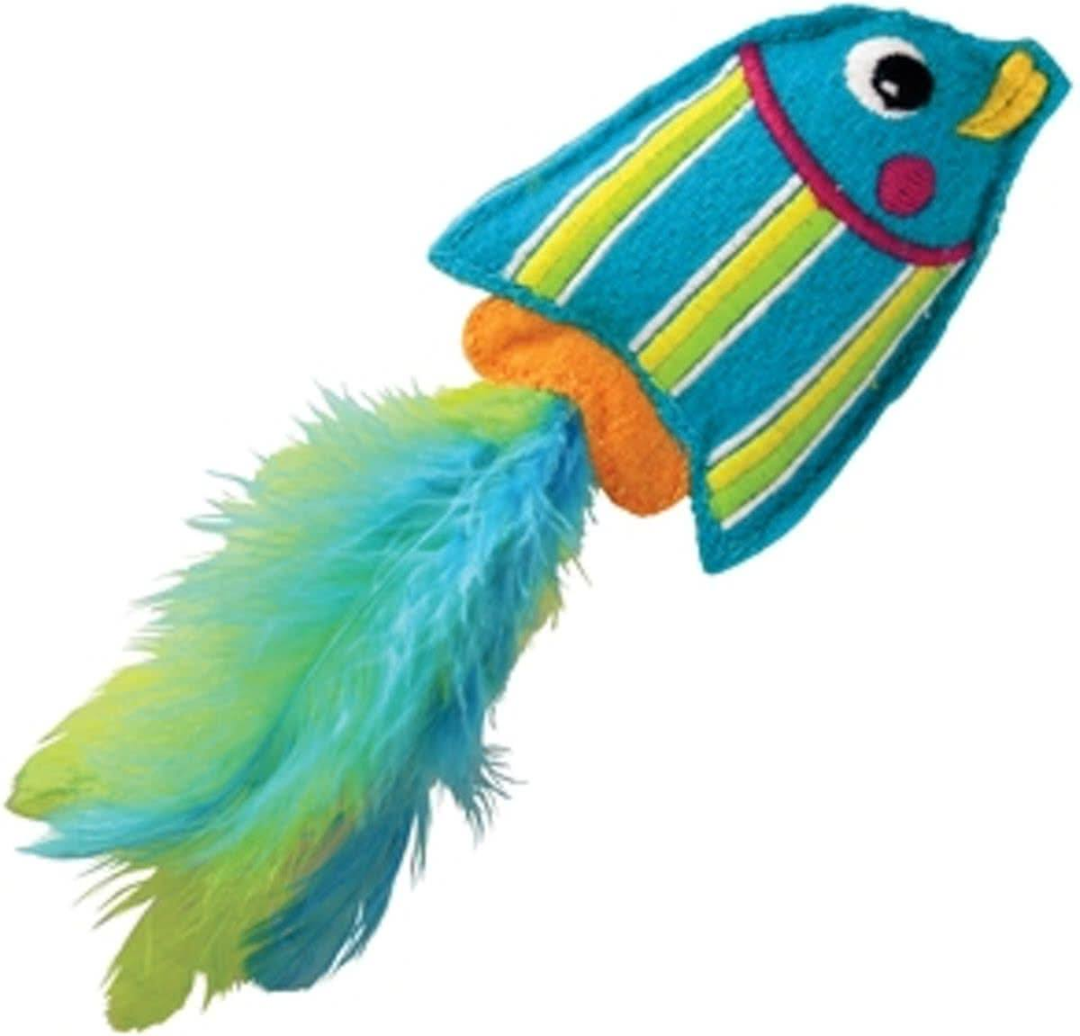 Kong Tropics Fish Catnip Toy - Blue