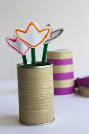 Washi Tape Flower Vase For Earth Day Makeandtakes Youre All Set Celebrating Crafting With Recycled Materials