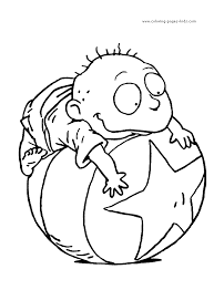 Rugrats Color Page Cartoon Characters Coloring Pages Plate Sheetprintable