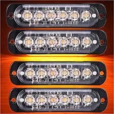 100 Emergency Strobe Lights For Trucks Safety Light Bars Geruite 4x Side Marker Car Truck 6