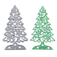 Christmas Tree Books Diy by Estel 60 103mm Christmas Tree Scrapbooking Diy Sharp Metal Carbon