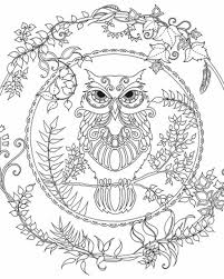 Enchanted Forest Owl Coloring Pages Colouring Adult Detailed Advanced Printable