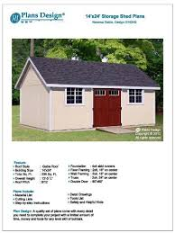 12 X 24 Gable Shed Plans by Outdoor Storage Shed Plans 14 U0027 X 24 U0027 Reverse Gable Roof Style