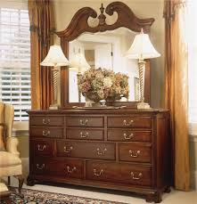 Landscape Mirror And Triple Dresser
