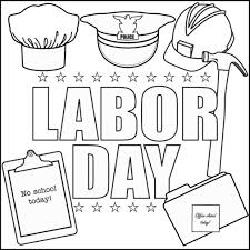 Coloring Labor Day Pages Free Printable