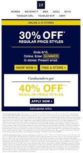 Gap Coupons - 30% Off At Gap, Or Online Via Promo Code SUMMER