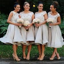 Bridesmaid GownWhite DressesShort GownSummer GownsBeach DressCheap GownLace Bodice