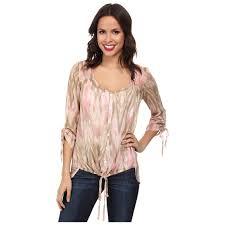 miraclebody jeans women u0027s dora tie front woven blouse w body