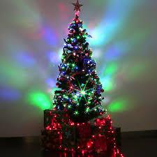 6 FT Pre Lit Fiber Optic Artificial Christmas Tree LED Multicolor Lights Stand