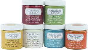 Americana Decor Chalky Finish Paint Colors by Decoart Americana Decor Chalky Finish 6 Color Set Bohemian