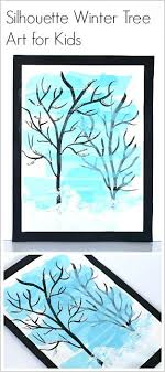 Silhouette Winter Tree Art Project For Kids Really Cool Activity Using Tiss