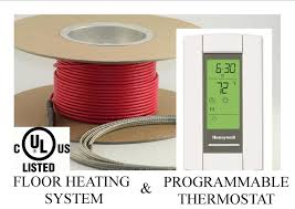Suntouch Heated Floor Thermostat Manual by 150 Sqft Cable Set Electric Radiant Floor Heat Heating System