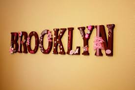 Full Size Of Baby Nursery Name Letters Brown Wooden Brooklyn Pink Ribbons Accessories Wall Bedroom