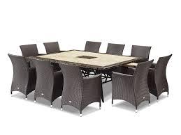 Outdoor Furniture Dining Stone Wicker Rositano Mateus 11pc