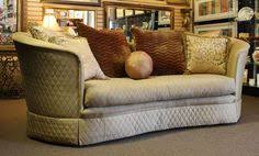 Marge Carson Sofa Pillows by Beautiful Curved Front Sofa By Sherrill With Light Brown