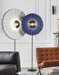 weiß oder lila stoff led boden licht kreative postmodernen sonne blume boden le für wohnzimmer schlafzimmer kunst vertikale leuchten